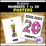 Bubble Numbers 1-20 Posters