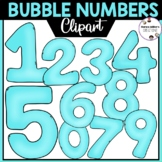 Bubble Numbers Clipart 0-9