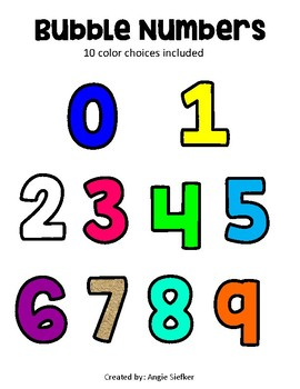 Bubble Numbers for Bulletin Boards
