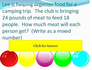 Bubble Pop - Numbers and Operations Fractions (Part 2)