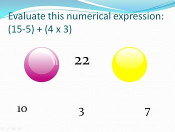 Bubble Pop - Operations and Algebraic Thinking (5th)