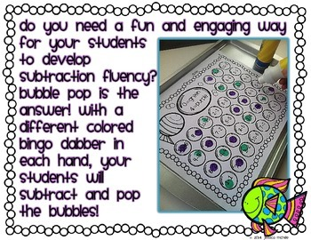 Bubble Pop {Subtraction Differences to 5}