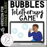 Bubbles Teletherapy Game for Speech and Language with Goog