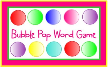 Bubble Pop Word Game