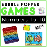 Pop It Bubble Poppers Numbers to 10 Games