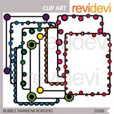 Bubble Rainbow Borders / commercial use clip art / seller