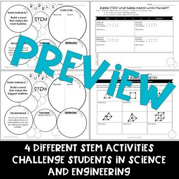 Bubble STEM Science and Engineering Activities