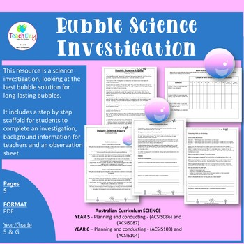 Bubble Science Investigation