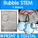 Bubble Science and STEM Activity - Printable & Digital wit
