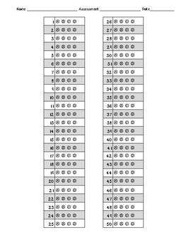 picture about Printable Scantron Form referred to as Bubble Sheet Solution Sheets Worksheets Instruction Elements TpT