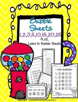 Test Prep - Bubble Sheets
