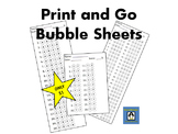 Bubble Sheets - Print and Go!