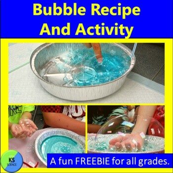 Bubble Solution Recipe and How to Touch a Bubble:  FREEBIE