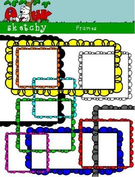 Bubble Square Frames / Banners 300 dpi Color, BW