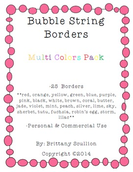 Bubble String Frames & Borders, Multi Pack