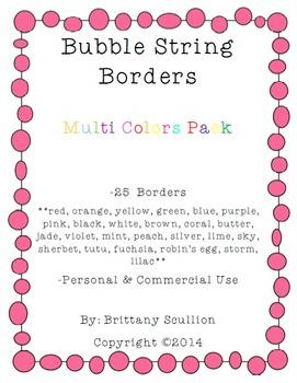 Bubble String Frames & Borders, Multi Pack
