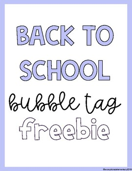 Bubble Tag Freebie