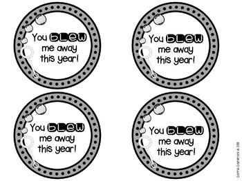 photograph relating to You Blew Me Away This Year Free Printable identified as Bubble Tags