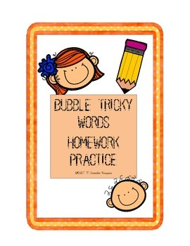 CKLA Bubble Tricky Word Practice