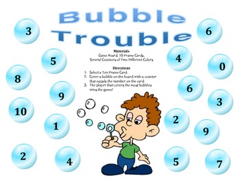 Bubble Trouble - A 2-Player Game to Identify Numbers Using Ten Frames