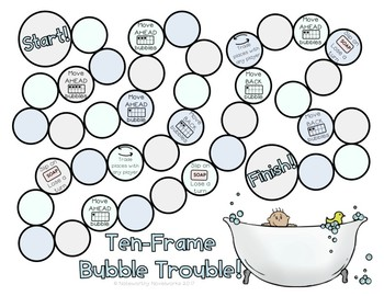 Bubble Trouble - A Ten Frame Game Freebie!