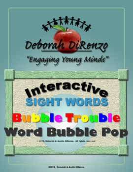 Bubble Trouble Interactive Sight Word Game