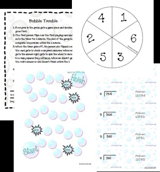 Bubble Trouble: Long Division with Remainders Game