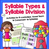 SYLLABLE TYPES GAMES & ACTIVITIES Vowel Teams, R-Controlle