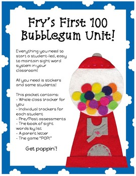 Bubble Up with Fry's Sight Words First 100!