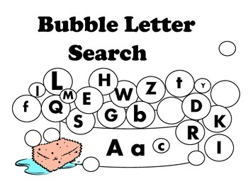 Abc Bubble Upper Case Lower Case Letter Search By Miss Vicki S