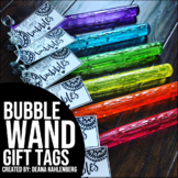 Bubble Wand Gift Tags