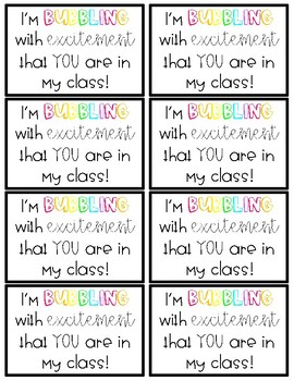 MEET THE TEACHER Bubble Wands gift tags