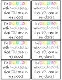 MEET THE TEACHER Bubble Wands gift tags
