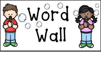 Bubble Word Wall Header