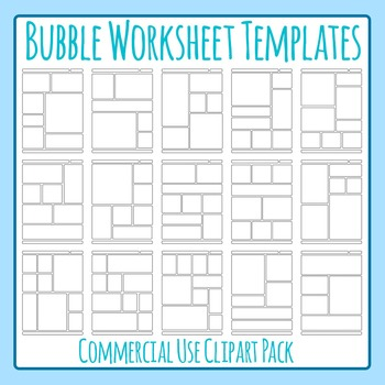 Bubble Worksheet Templates / Layouts Clip Art Pack for Commercial Use