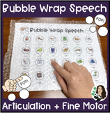 Bubble Wrap Speech: Articulation