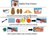 Bubble Wrap Turkey Art Project
