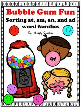 Word family games for am,at,an, & ad