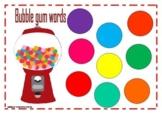 Bubble gum words
