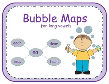 Graphic Organizers - Bubble maps for long vowels