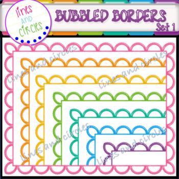 Borders / Frames: Bubbled Set 1