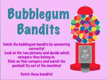 Bubblegum Bandits: An Interactive Categorizing Activity!