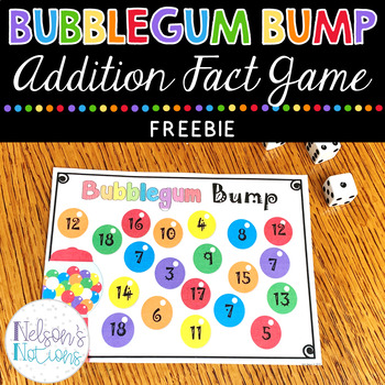 Bubblegum Bump {Freebie} Math Addition Game