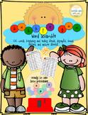Word Work:Bubblegum CVC,DIgraphs,Blends,Bonus Letter Word