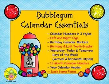Bubblegum Calendar Essentials