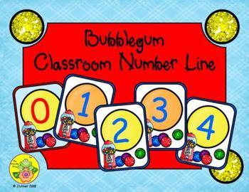 Bubblegum Classroom Number Line