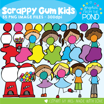 Bubblegum Clipart - Scrappy Bubblegum Kids