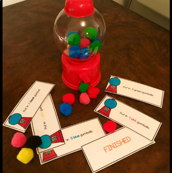 Bubblegum Counting Activity Cards