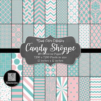 12x12 Digital Paper - Color Scheme Collection: Bubblegum (600dpi)