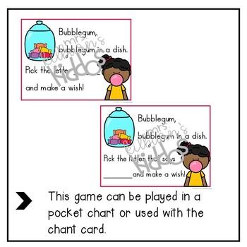 Bubblegum Letter Recognition Game